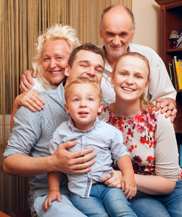 Structure your family trust properly: married couple with son and grandparents