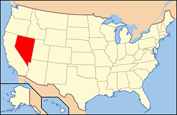 Nevada asset protection: map of United States with Nevada state highlighted.