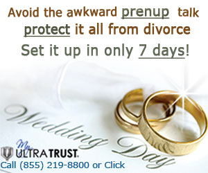 Avoid the prenup talk. Protect your assets from divorce. Photo of wedding rings.