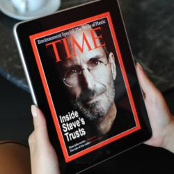 Inside Steve Jobs' trusts:Time magazine cover.